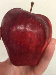 This is a delicious red apple