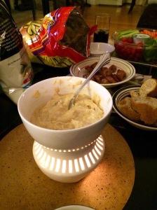 Smoked cheese fondue
